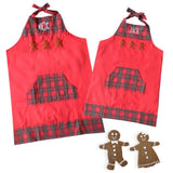Adult French Knot Gingerbread Men Apron