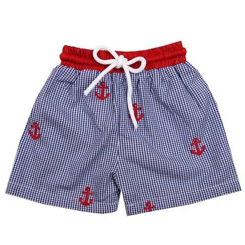 Boys Anchor Swim Trunks