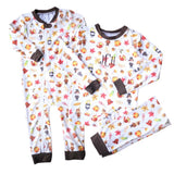 Tristian Thanksgiving Unisex Baby One-piece Zip-up