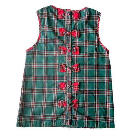 Georgia Green Tartan Ladies Top