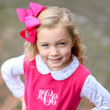 Lucy Hot Pink Corduroy Bow Jumper