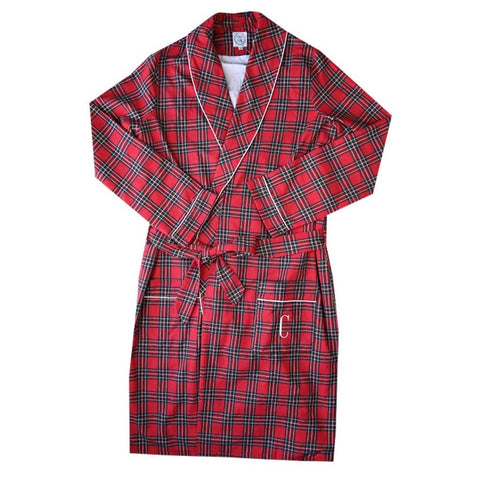 mens red tartan robe christmas gift for men