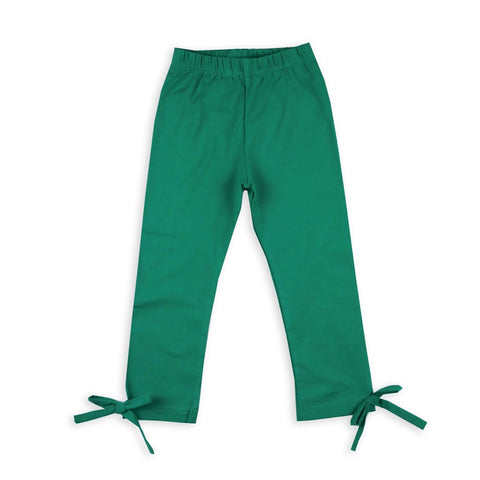 girls green leggings fall warm