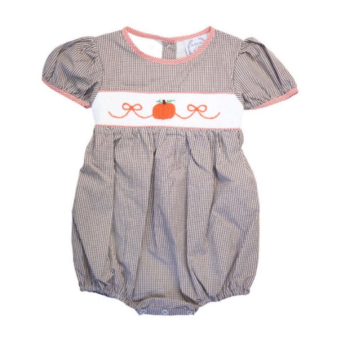 Madison Smocked Pumpkin Bubble