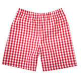 Aaron Red Gingham Shorts