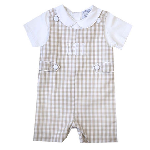 Lucas Tan Gingham Shortall