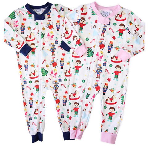Holiday loungewear zip up for babies and toddlers great for gifts