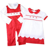smocked santa dress matching sibling outfits