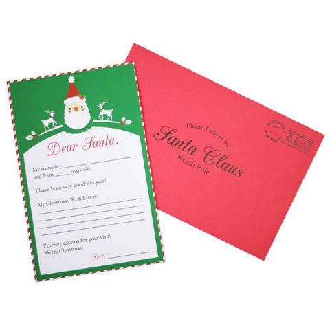 Letter to Santa Claus (individual card with envelope)