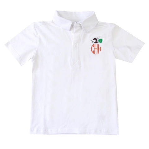 Monogram Pumpkin Polo