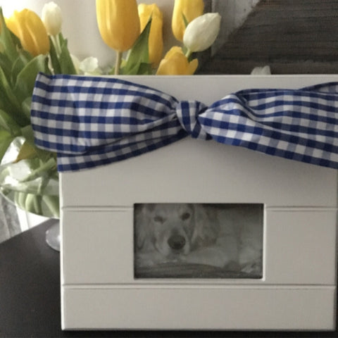 Gingham Bow Frame