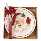 Vintage Santa Cheese Set