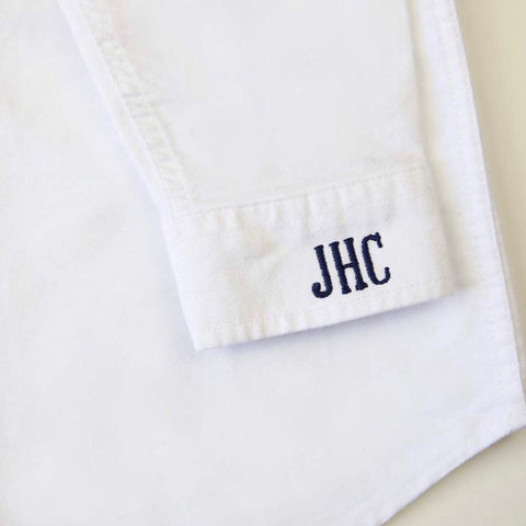 Classic White Twill Button-Down Shirt
