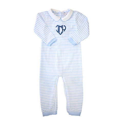 Special Edition Heart Monogram Stripe Romper
