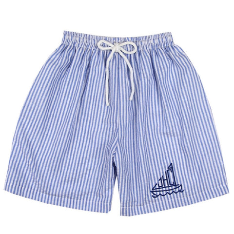 William Seersucker Swim Trunks