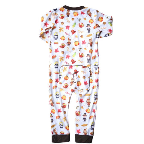 Tristin Thanksgiving Unisex Baby One-piece Zip-up
