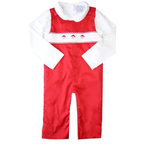 smocked santa for boys christmas outfit