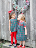 Georgia Green Tartan Girls Top