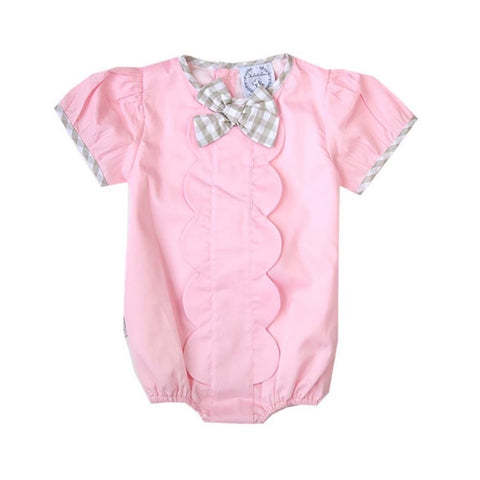 Ivy Pink & Tan Gingham Bubble