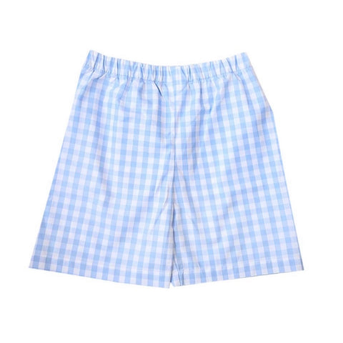 Murphy Light Blue Gingham Shorts