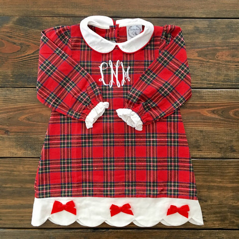 Girls Tartan Holiday Loungewear