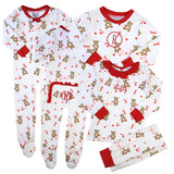 I Love You Beary Much Valentine Zip-up One Piece Loungewear