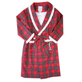 Children's Red Tartan Robe