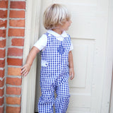 Lee Navy Gingham Longall