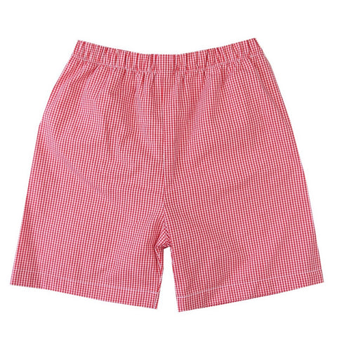Alden Red Gingham Shorts