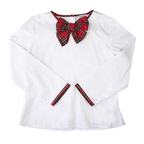 tartan bow mommy and me ladies top