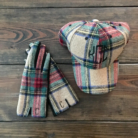 Plaid Glove & Hat Set