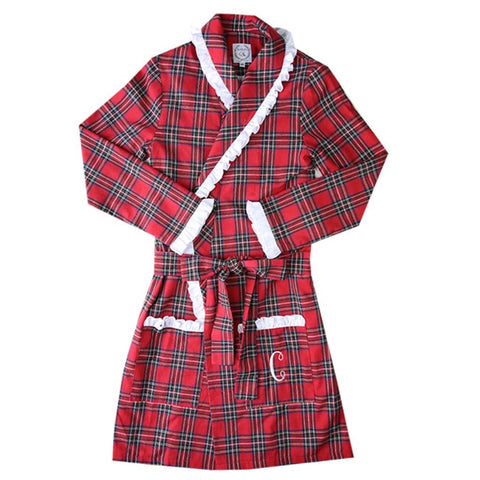 Women's Red Tartan Robe