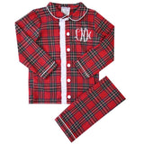Children's Red Tartan Loungewear