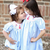 Set Sail Smocked Bishop Dress