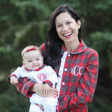 Women's Red Tartan Loungewear