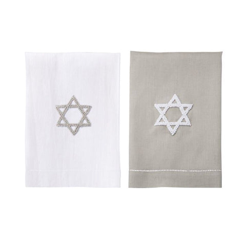 Star of David French Knot Towel