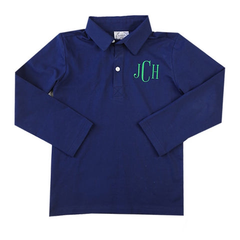 Classic Navy Long-Sleeve Polo