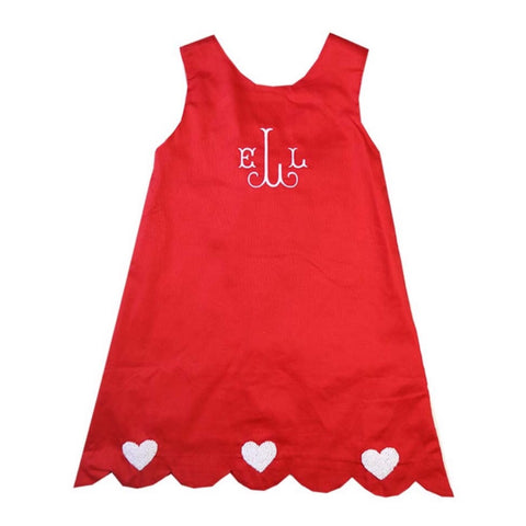 Cupid's French Knot Heart Dress