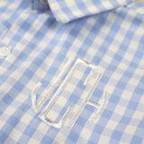 Michael Light Blue Gingham Button Down