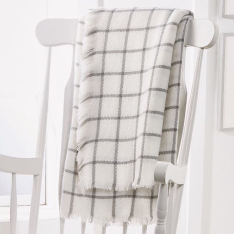 Ivory & Grey Rocking Chair Throw