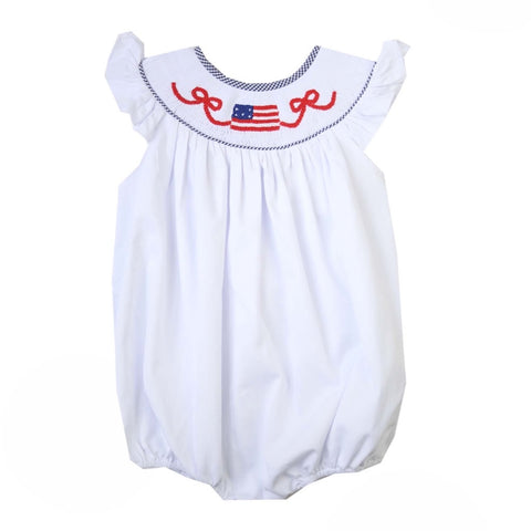 Americana Smocked Flag Bubble