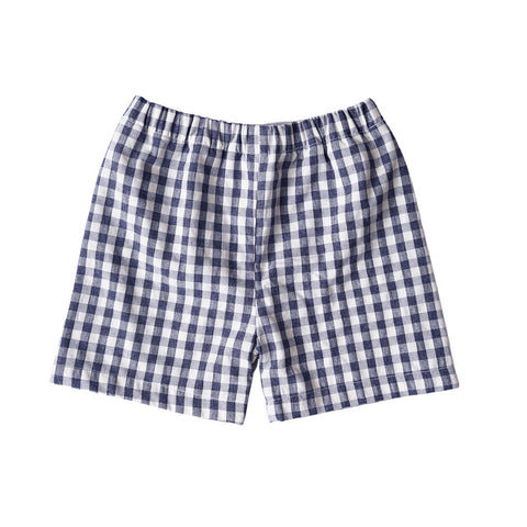 Patriot Navy Gingham Seersucker Shorts