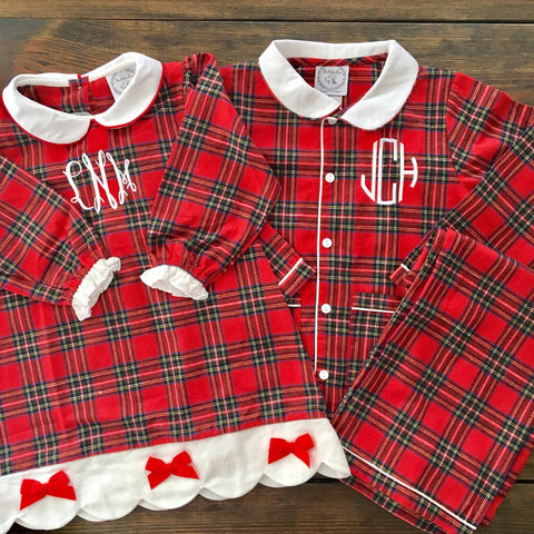 Plaid Flannel Holiday Pajamas
