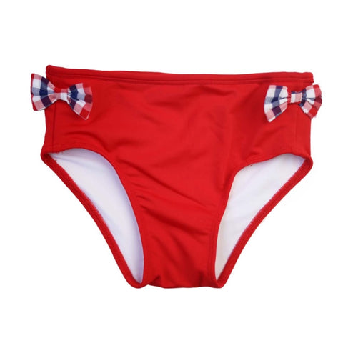 Ainsley Red Swim Bottoms