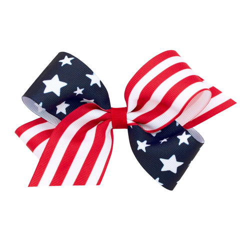 Patriotic Grosgrain Bow by WeeOnes