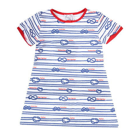 Girl Nautical Knots Short-sleeve Nightgown