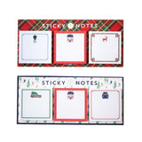 Holiday Sticky Notes 3-Pack
