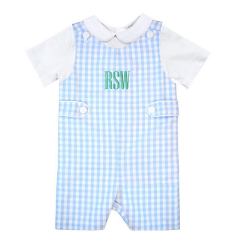 Myers Light Blue Gingham Shortall
