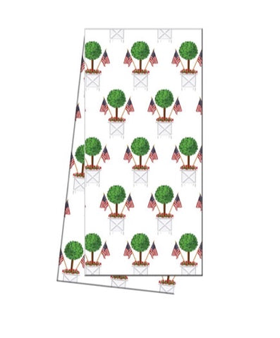 Patriotic Topiary Tea Towel