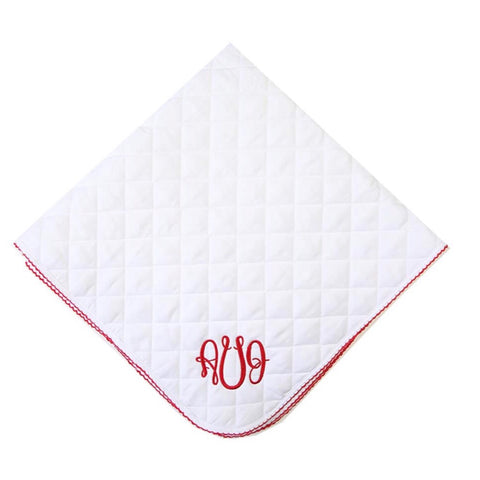 White Knit Quilted Blanket